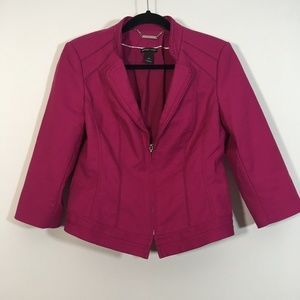 WHBM Jacket Pink Full Zip PERFECT FORM Blazer 10